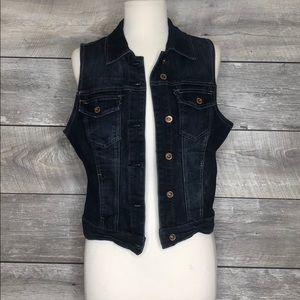 NWT Denim Jean Vest Size L Maurices